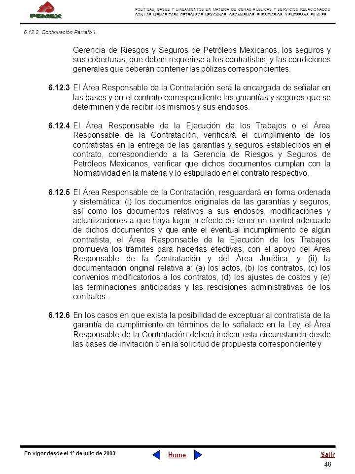 6.12.2, Continuación Párrafo 1.