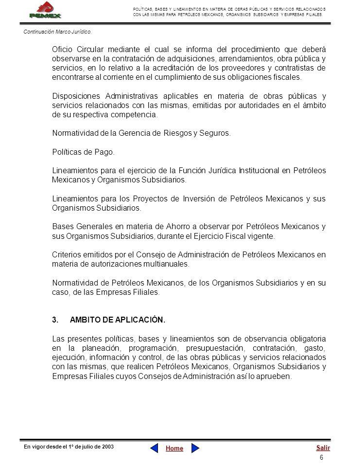 Normatividad de la Gerencia de Riesgos y Seguros. Políticas de Pago.