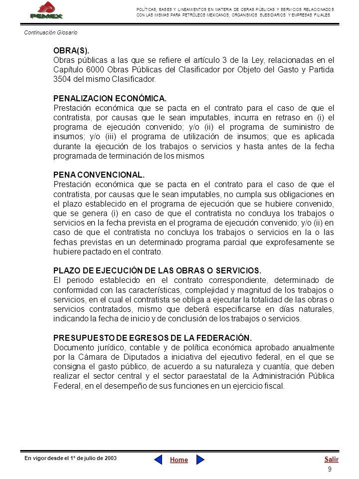 PENALIZACION ECONÓMICA.