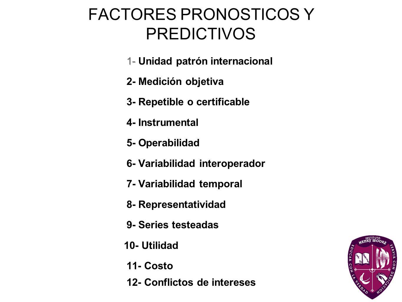FACTORES PRONOSTICOS Y PREDICTIVOS