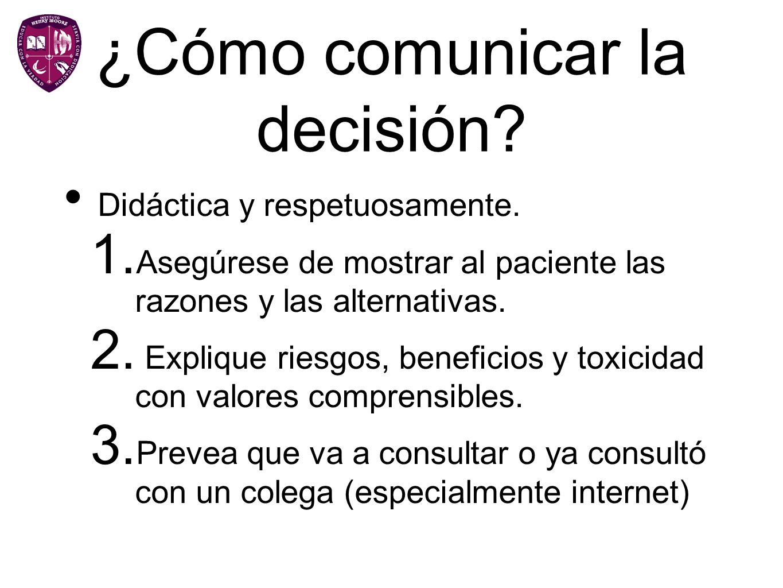 ¿Cómo comunicar la decisión