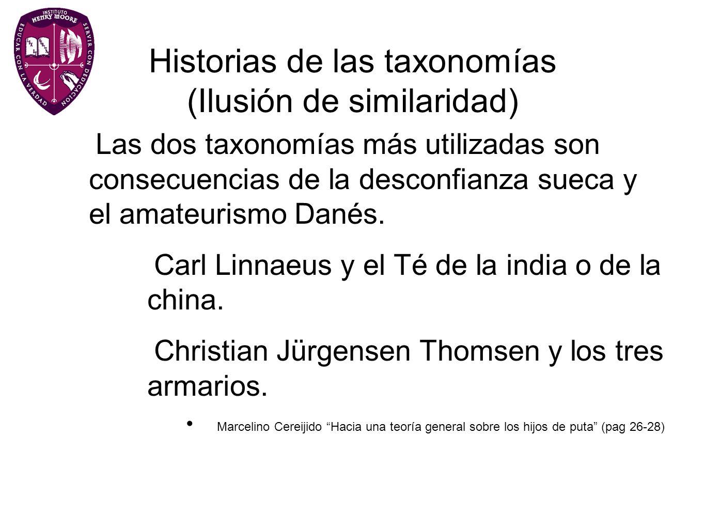 Historias de las taxonomías (Ilusión de similaridad)