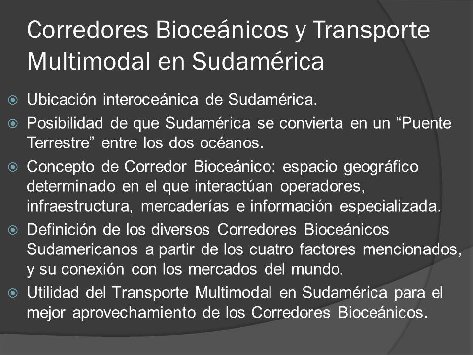 Corredores Bioceánicos y Transporte Multimodal en Sudamérica