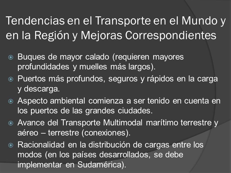 Tendencias en el Transporte en el Mundo y en la Región y Mejoras Correspondientes