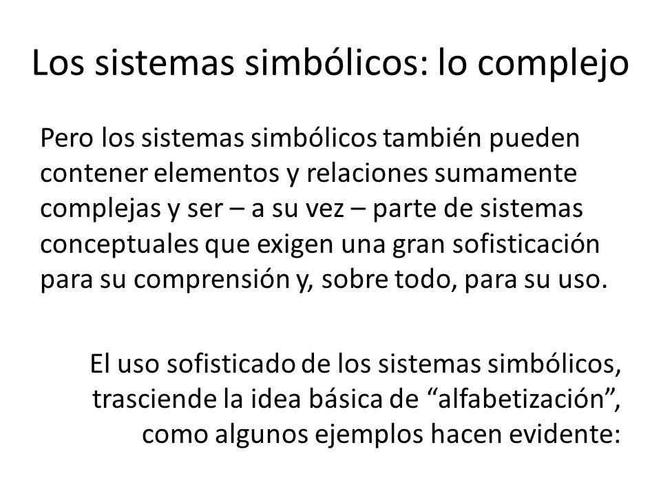 Los sistemas simbólicos: lo complejo