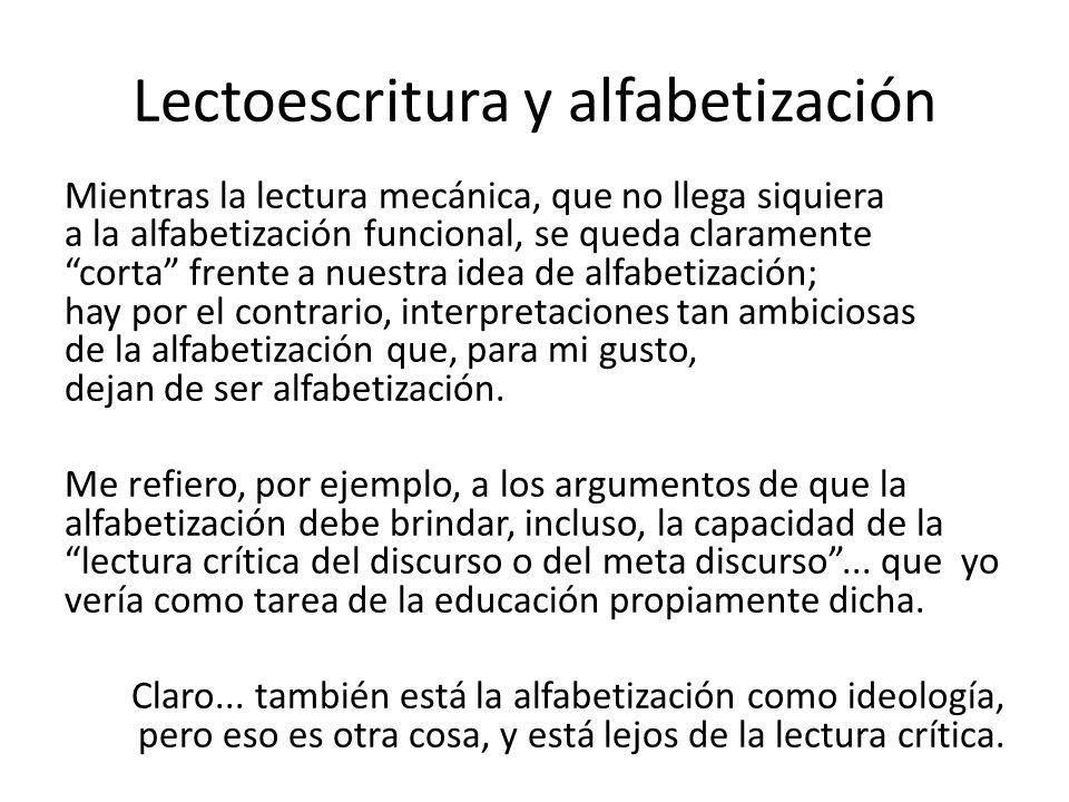 Lectoescritura y alfabetización