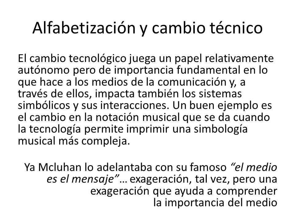 Alfabetización y cambio técnico