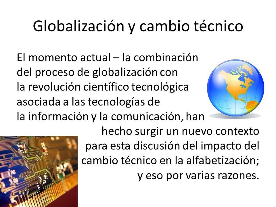 Globalización y cambio técnico