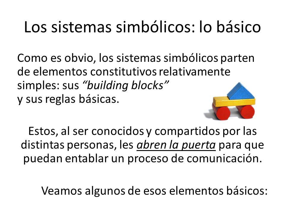 Los sistemas simbólicos: lo básico