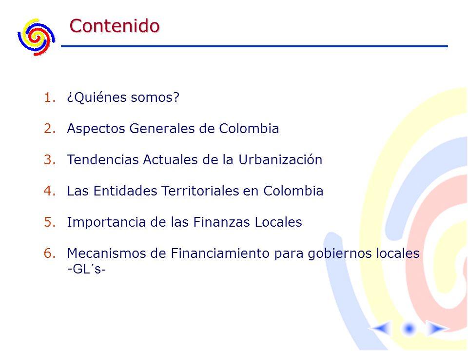 Contenido ¿Quiénes somos Aspectos Generales de Colombia