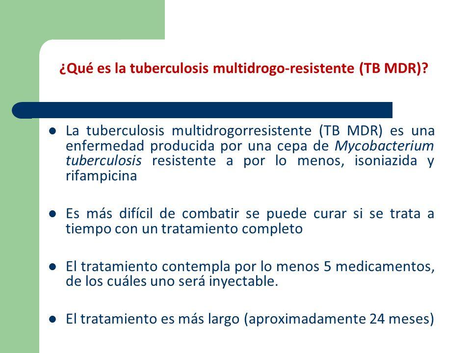 ¿Qué es la tuberculosis multidrogo-resistente (TB MDR)