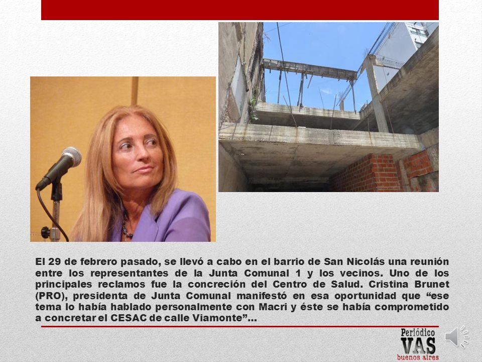 El 29 de febrero pasado, se llevó a cabo en el barrio de San Nicolás una reunión entre los representantes de la Junta Comunal 1 y los vecinos.