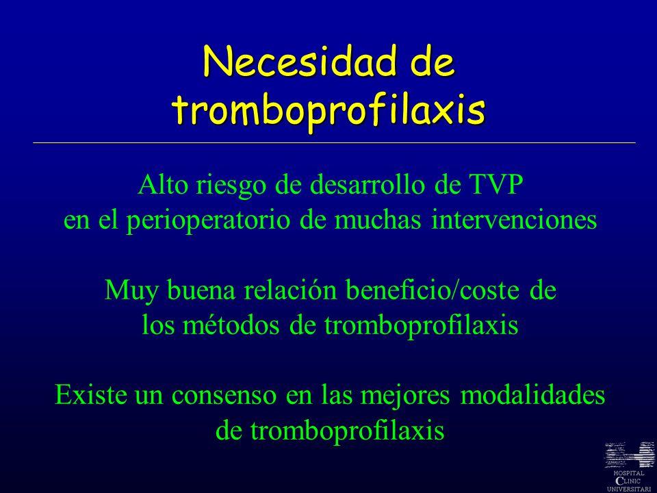 Necesidad de tromboprofilaxis