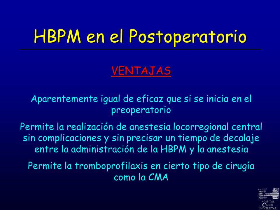 HBPM en el Postoperatorio