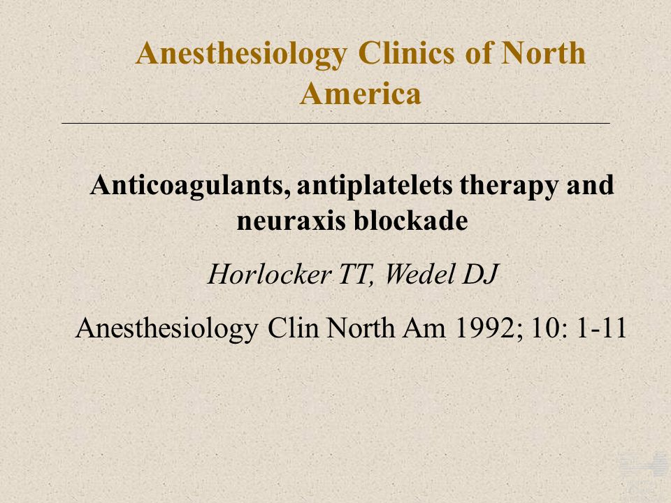 Anesthesiology Clinics of North America