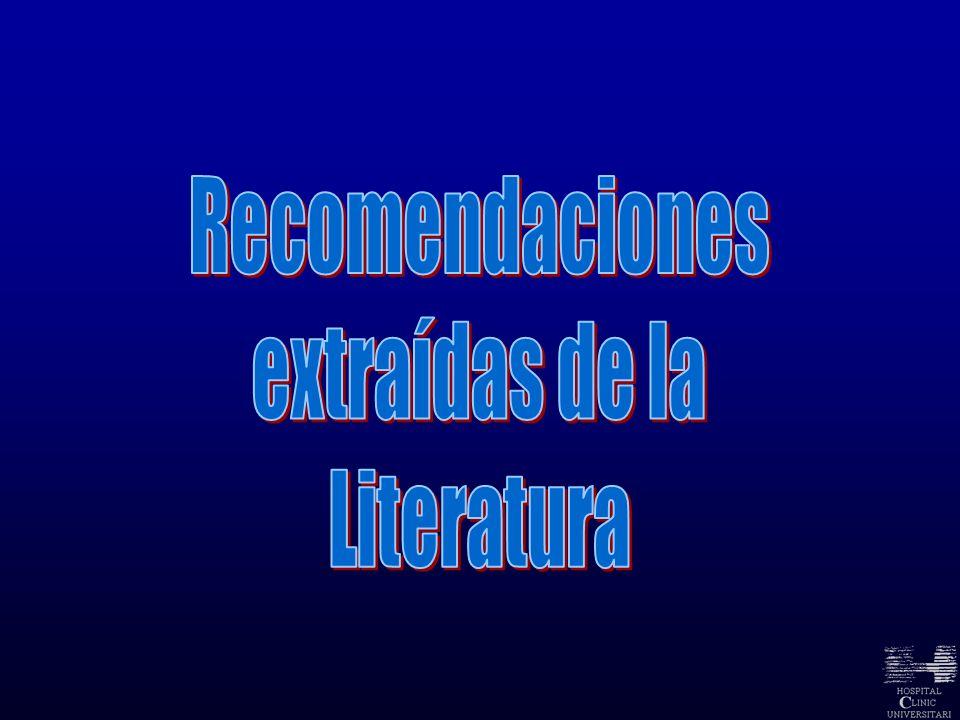 Recomendaciones extraídas de la Literatura