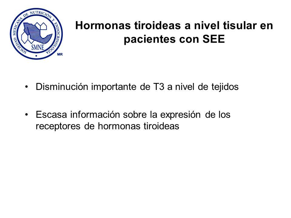 Hormonas tiroideas a nivel tisular en pacientes con SEE