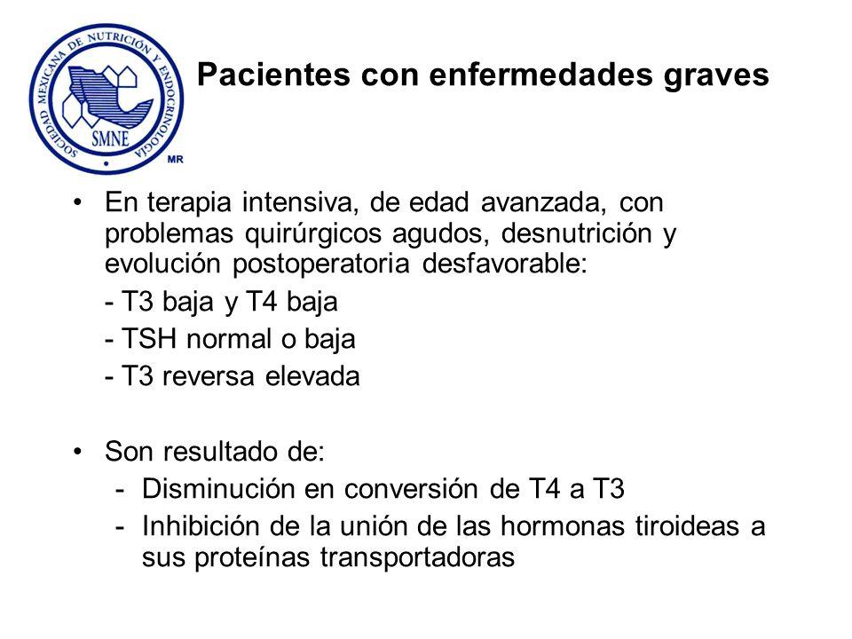 Pacientes con enfermedades graves