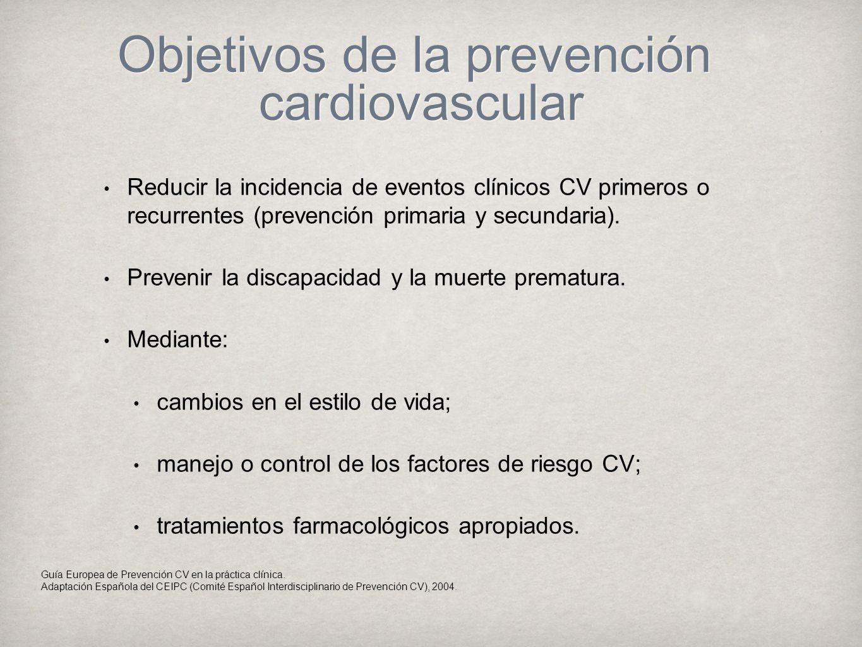 Objetivos de la prevención cardiovascular