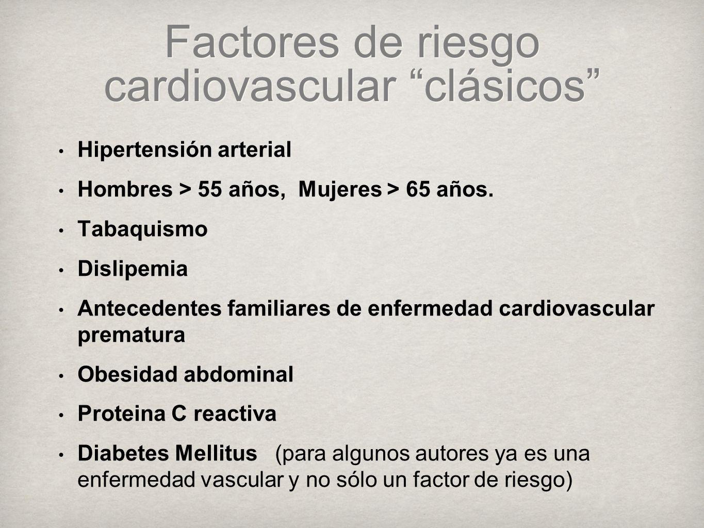 Factores de riesgo cardiovascular clásicos