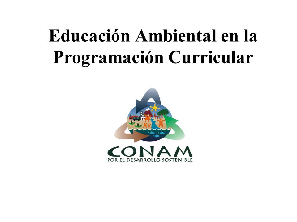 Educación Ambiental en la Programación Curricular