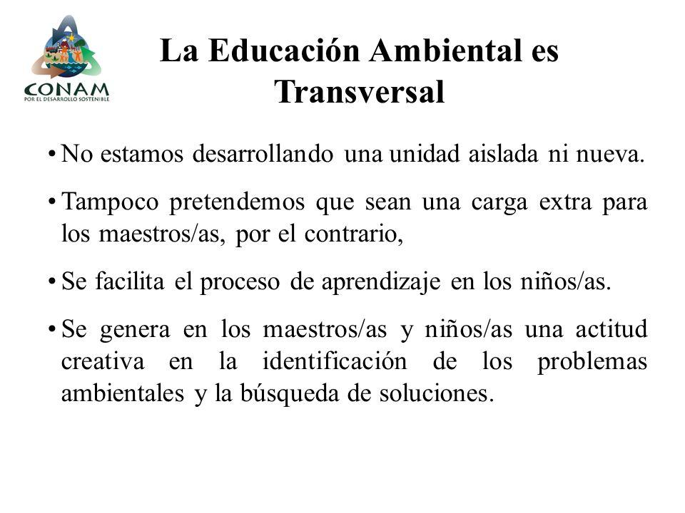La Educación Ambiental es Transversal