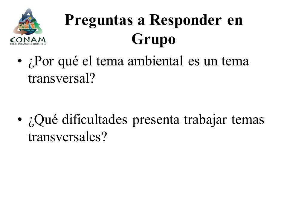 Preguntas a Responder en Grupo