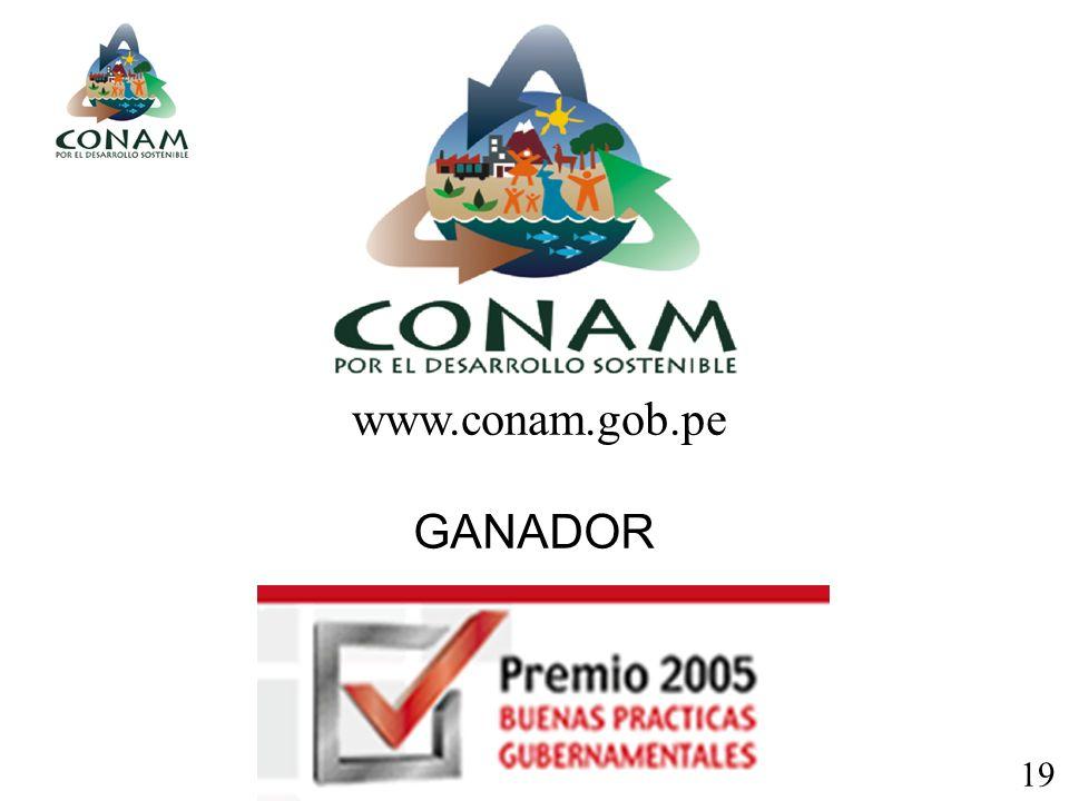 www.conam.gob.pe GANADOR 19