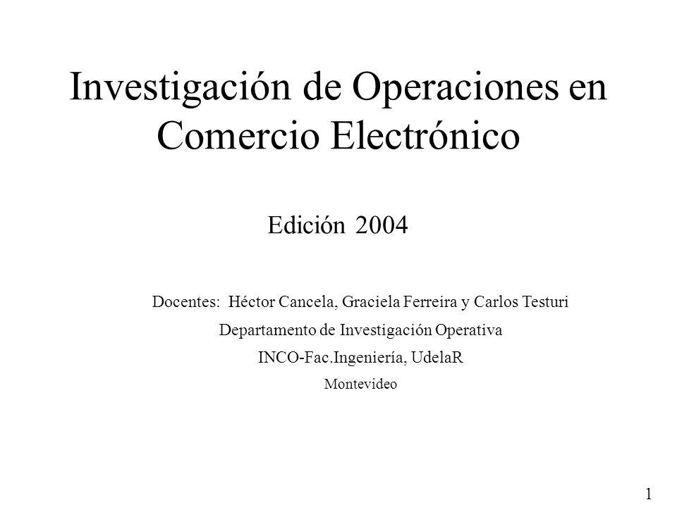 Investigación de Operaciones en Comercio Electrónico Edición 2004