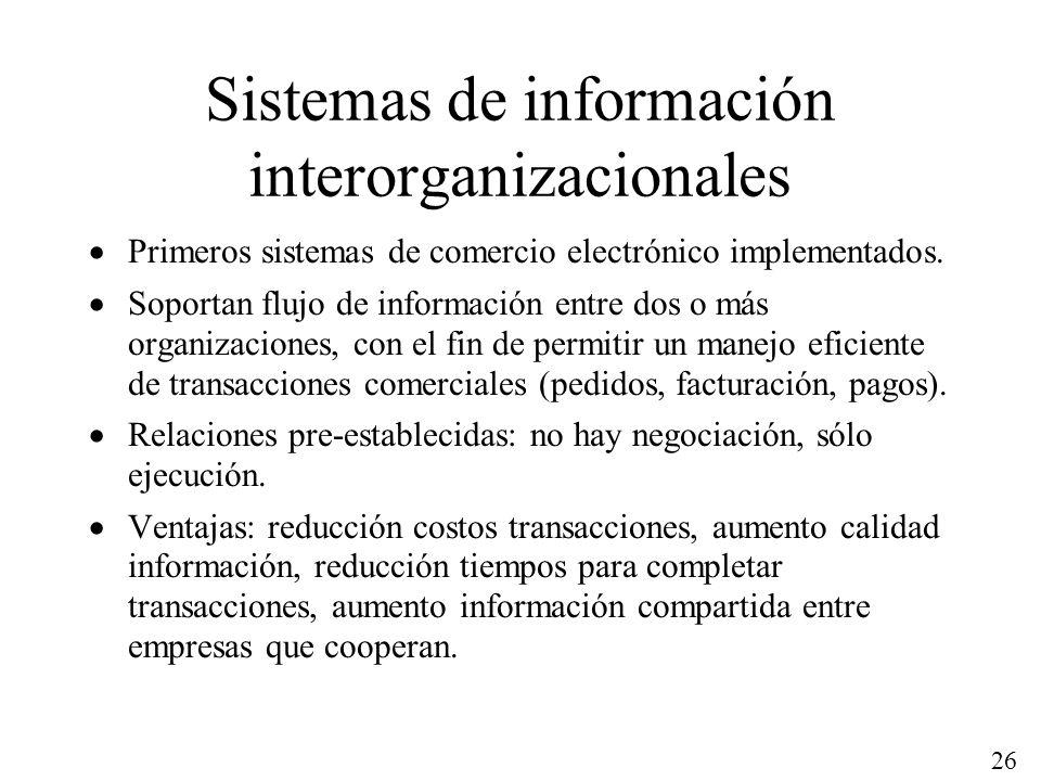 Sistemas de información interorganizacionales