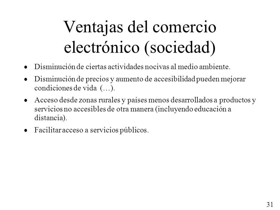 Ventajas del comercio electrónico (sociedad)