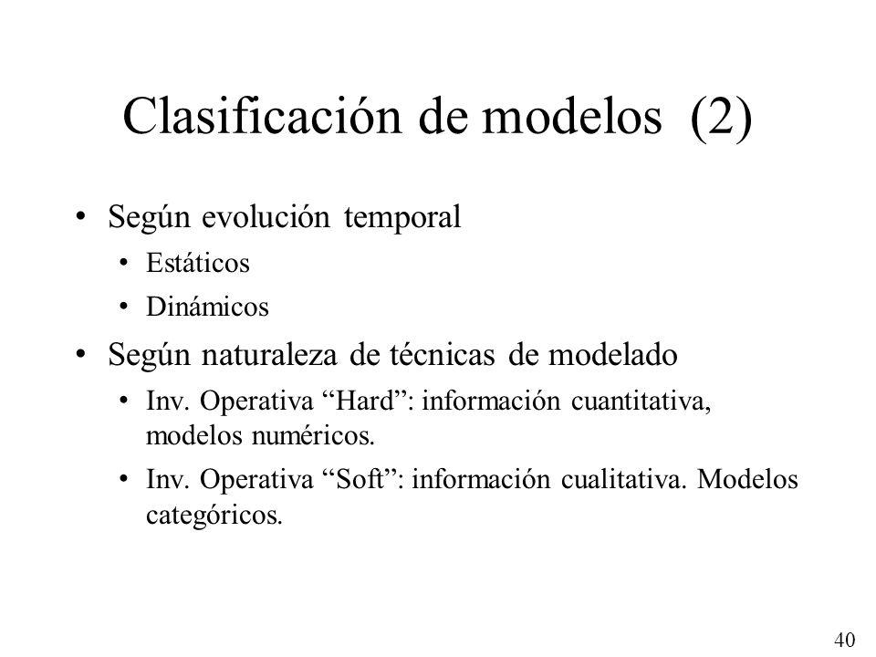 Clasificación de modelos (2)
