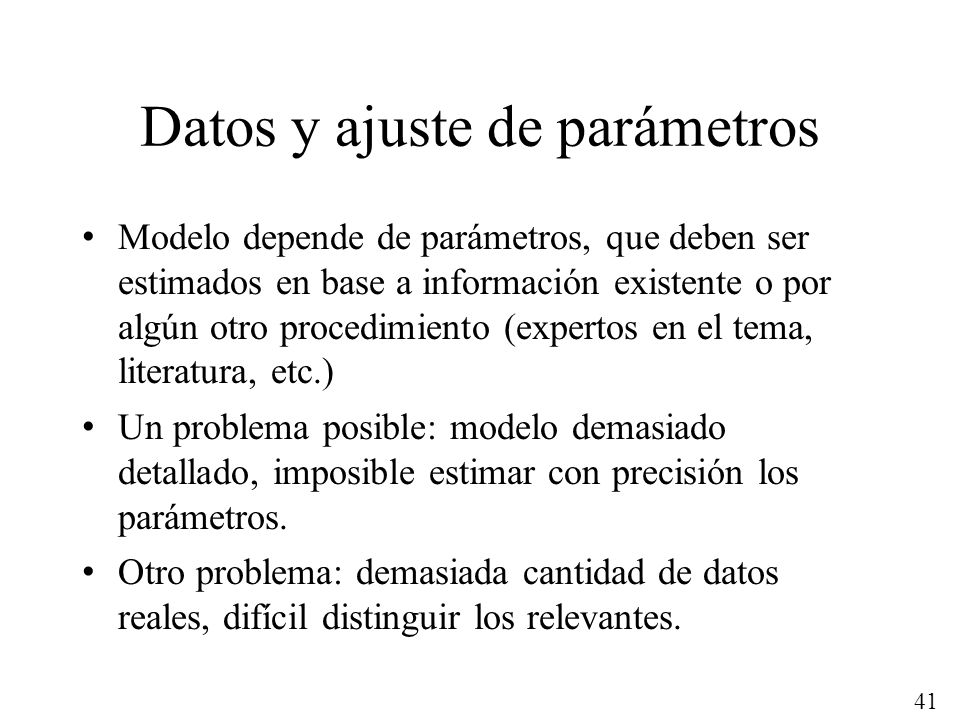 Datos y ajuste de parámetros