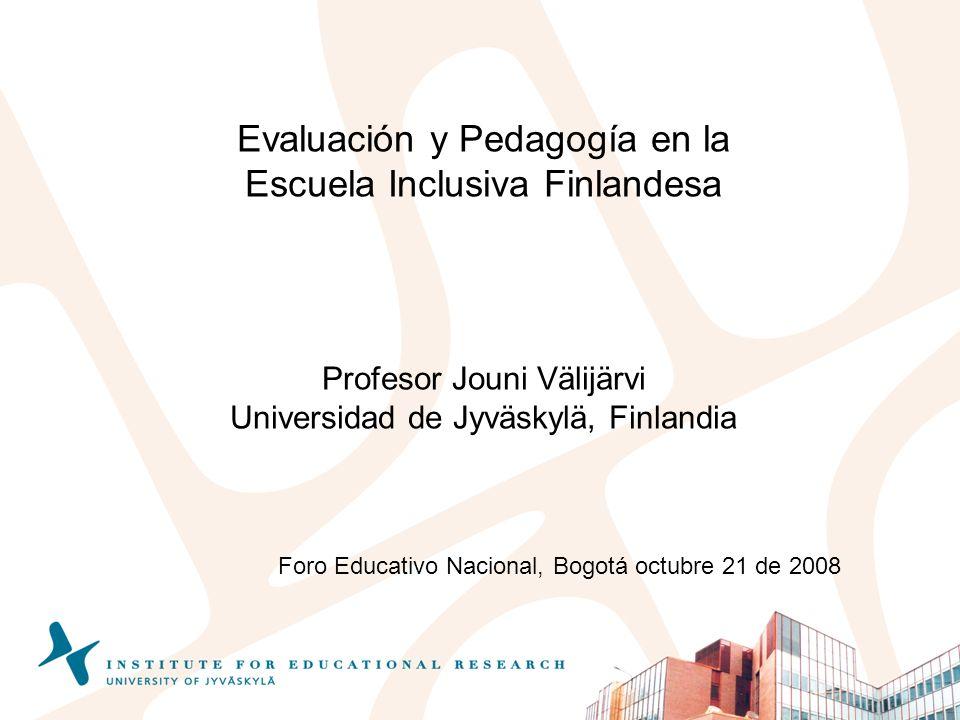 Evaluación y Pedagogía en la Escuela Inclusiva Finlandesa