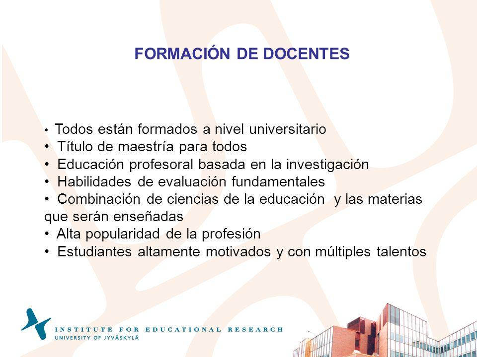 FORMACIÓN DE DOCENTES Título de maestría para todos