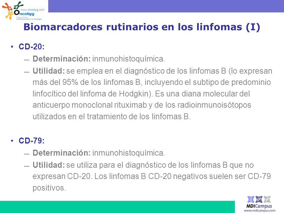 Biomarcadores rutinarios en los linfomas (I)
