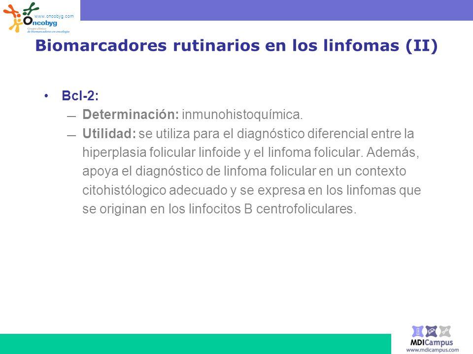 Biomarcadores rutinarios en los linfomas (II)