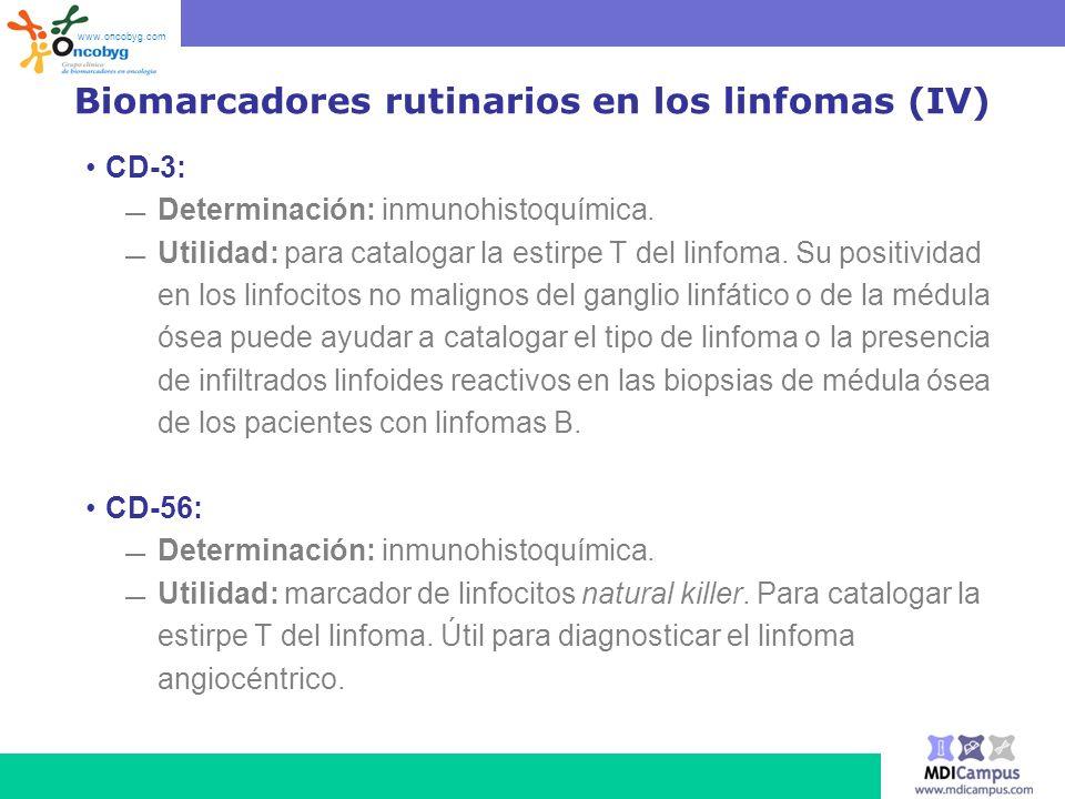 Biomarcadores rutinarios en los linfomas (IV)