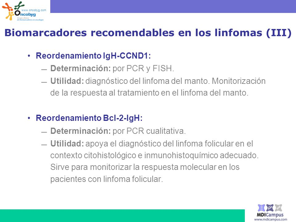 Biomarcadores recomendables en los linfomas (III)
