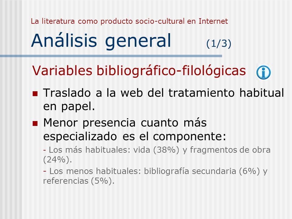 Variables bibliográfico-filológicas
