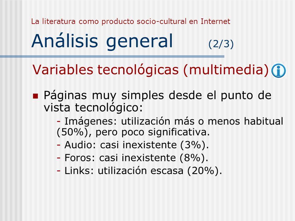Variables tecnológicas (multimedia)