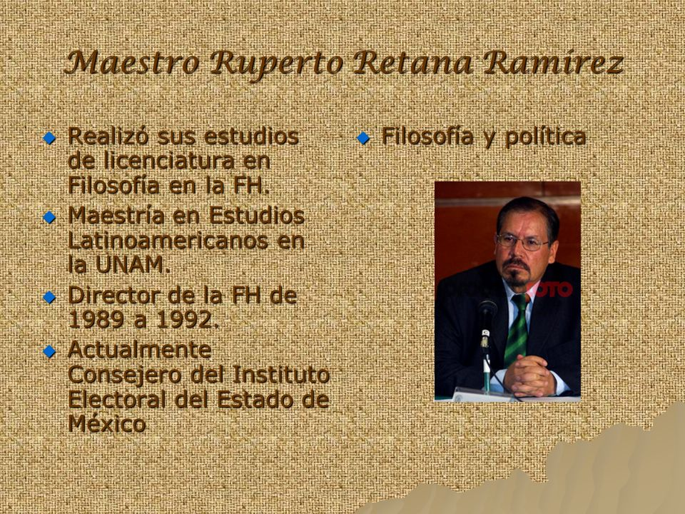Maestro Ruperto Retana Ramírez