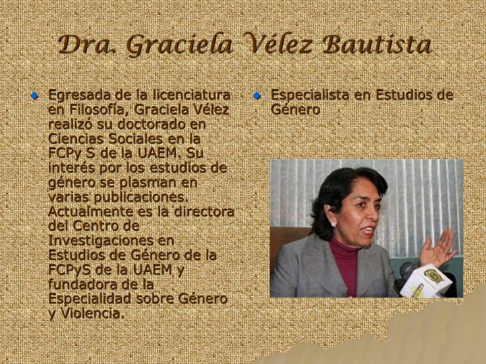 Dra. Graciela Vélez Bautista