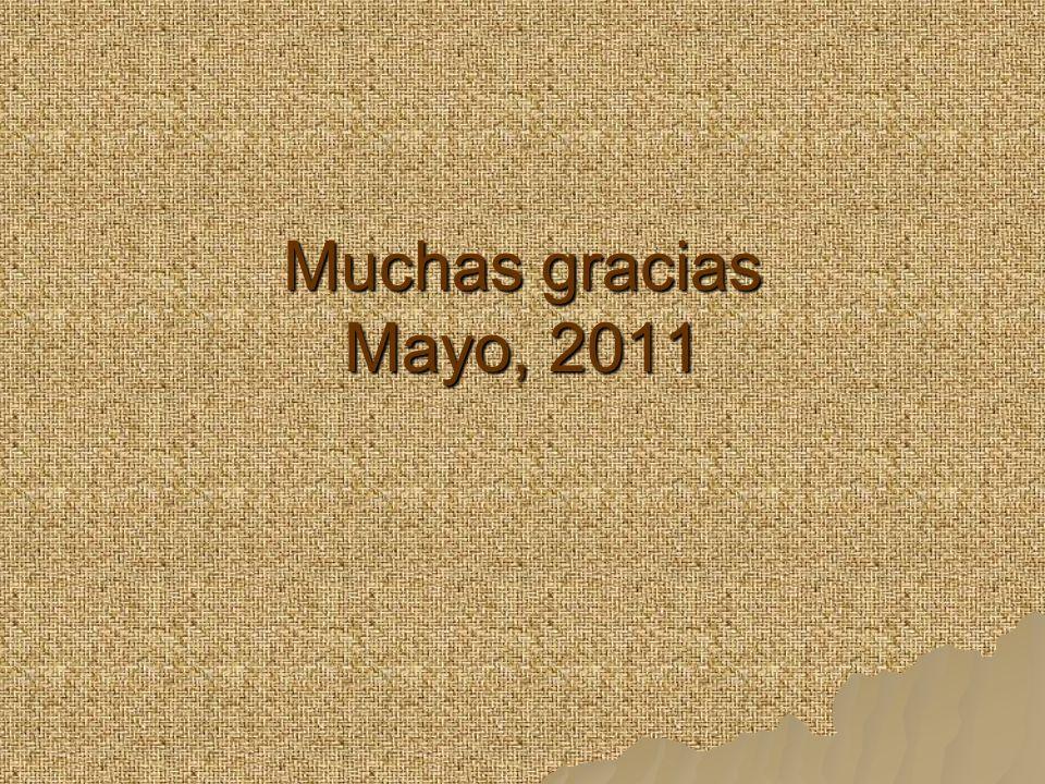 Muchas gracias Mayo, 2011