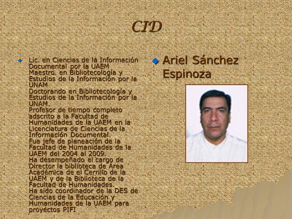 CID Ariel Sánchez Espinoza