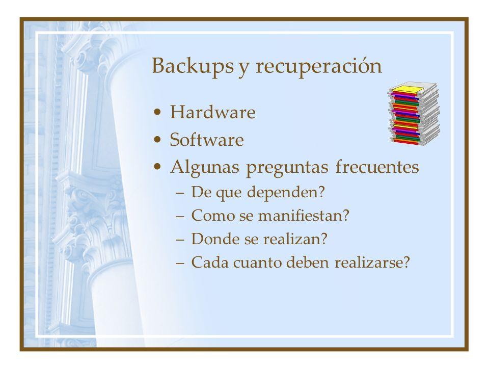 Backups y recuperación