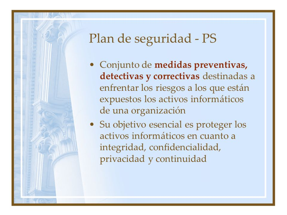 Plan de seguridad - PS