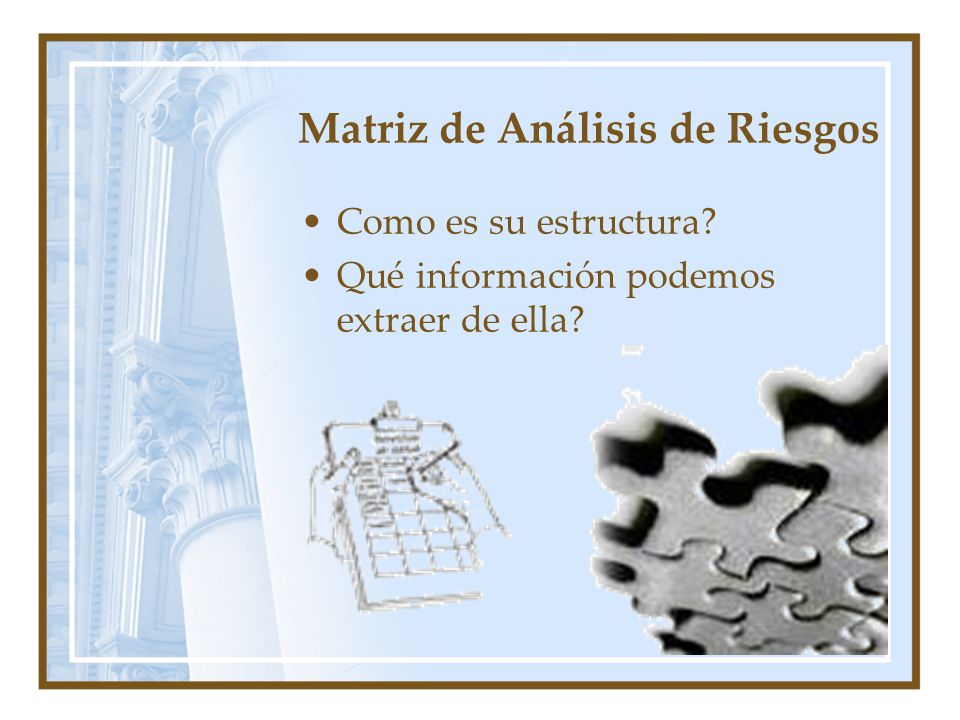 Matriz de Análisis de Riesgos