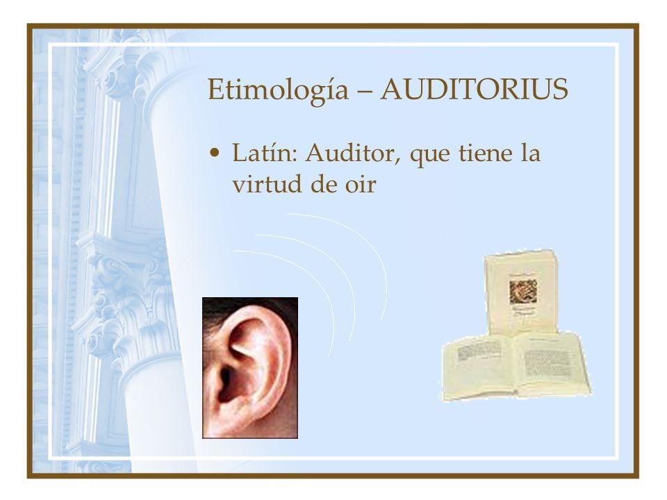 Etimología – AUDITORIUS
