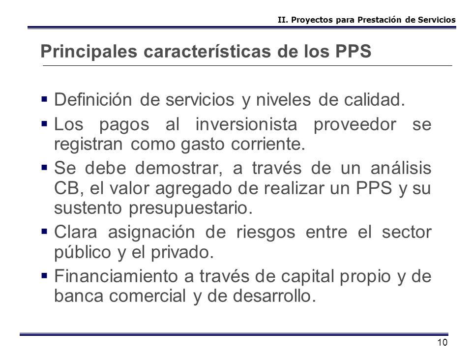 Principales características de los PPS